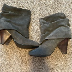 7.5 gray booties with small heel